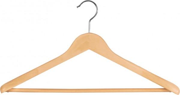 BuchenholzKleiderbügel mit Schulterverbreiterung | Holz-Kleiderbügel mit Steg