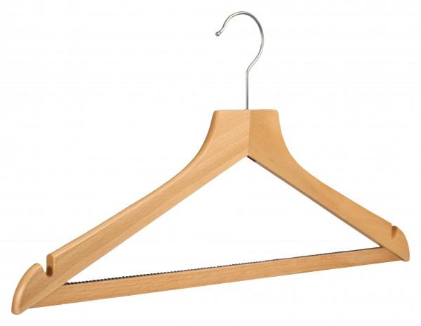Rutschfester Holz-Kleiderbügel mit Rockeinschnitten