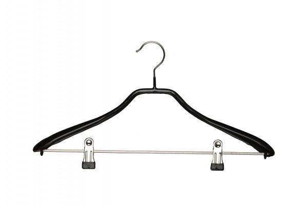 Metallkleiderbügel, mit Schulterverbreiterung: 38 mm und Clipsteg