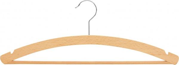 Kleiderbügel aus Buchenholz mit Steg und Rockeinschnitten