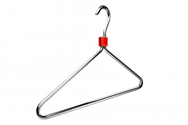 Aluminium-Kleiderbügel mit Clip, 4 Stück