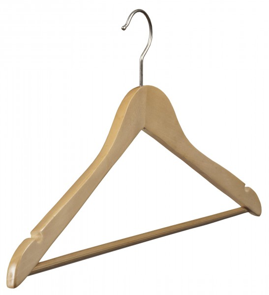 Lotusholz-Kleiderbügel mit rutschfestem Steg und Rockeinschnitten