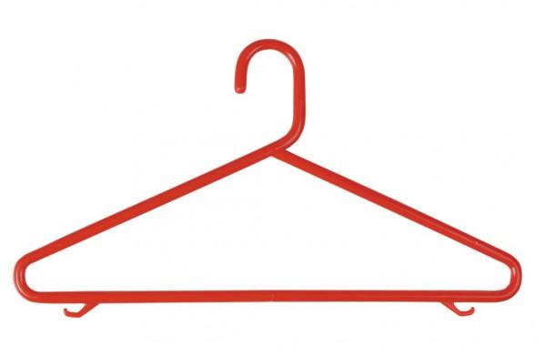 Kunststoffkleiderbügel, mit Steg und Rockhäckchen