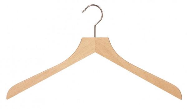 Holz-Kleiderbügel aus Buche | Kleiderbügel mit gerader Kopfform