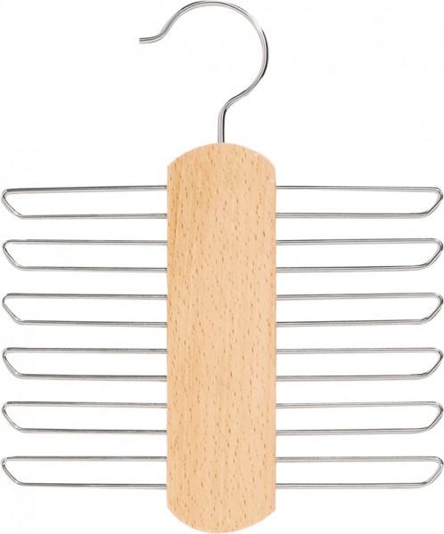 Krawattenhalter | Spezial-Kleiderbügel für 12 Krawatten und Tücher