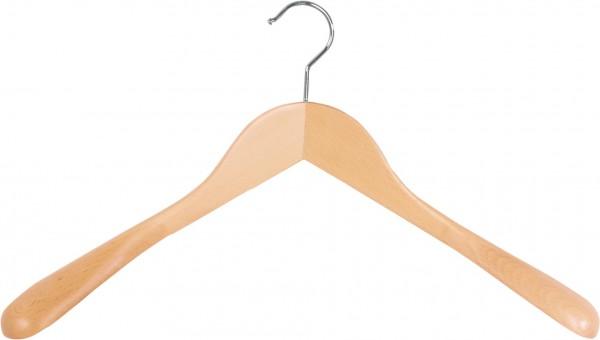 Textilschonender Holz-Kleiderbügel | Kleiderbügel aus Buchenholz mit breiten Enden