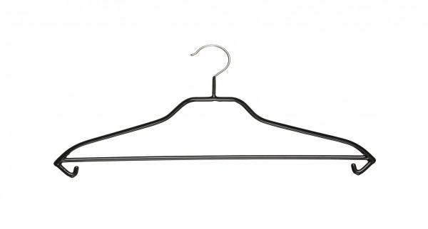 Metall-Kleiderbügel, mit Steg und Rockhäkchen