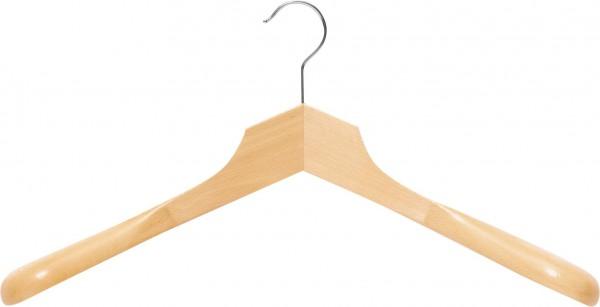 Buchenholz-Kleiderbügel mit eckigem Kopf | Kleiderbügel mit Schulterverbreiterung