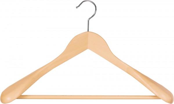 Buchenholz-Kleiderbügel mit Steg | Holz-Schulterbügel mit Schulterverbreiterung