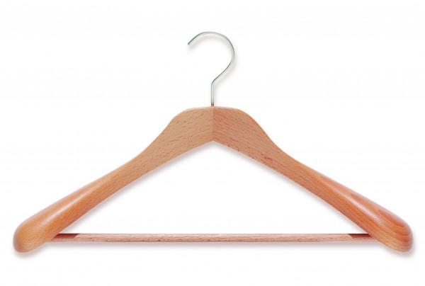 Modell-Kleiderbügel aus Buche | Holz-Kleiderbügel mit Steg