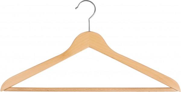 Buchenholz-Kleiderbügel mit kleinem Kopf  Kleiderbügel mit Steg