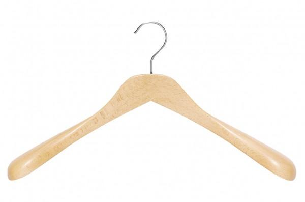 Modell-Kleiderbügel mit großer Schulterverbreiterung| Kleiderbügel aus Buchenholz