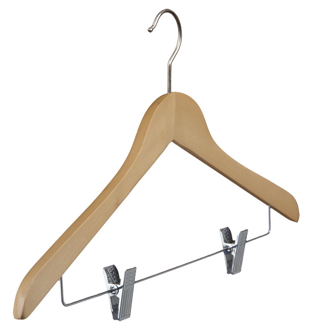 Lotusholz-Kleiderbügel mit Klammernsteg